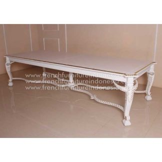BANQUET LARGE DINING TABLE WHITE LIGHT FILD DECOR