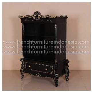 CF 009-RT MATCING ROCOC BOOKCASE BLACK & GOLD DECOR