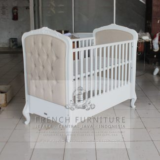 French Aeneas Baby Bed Mahogany
