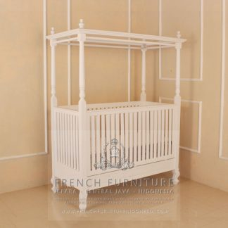 French Canopy Baby Bed Shabby Chic