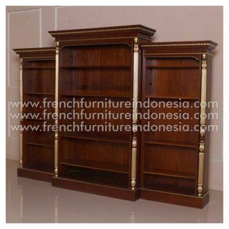 ICB 038 BOOKCASE L GOLD DECOR