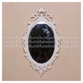 IMR 018 SMALL CARVED OVAL MIRROR