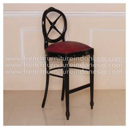 IST 036 ROUND BACK BAR STOOL KIREI RED