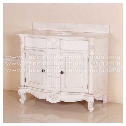Larissa Single Vanity 100W Galala Marble Top ASW B