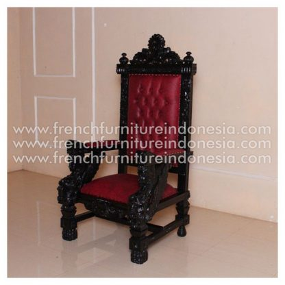 Overscaled Chair with Winged Figures