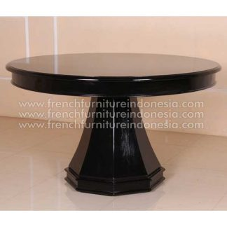 RDT 084 round table black semi gloss