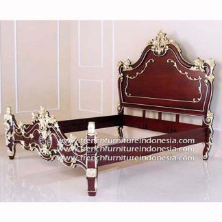 Valbone bed king rdm heavy gold decor finish