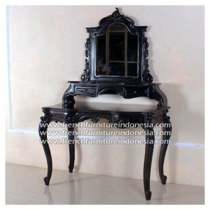 RDM 009 M french dressing table black antique finish