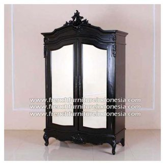 French Armoire 2 Doors With Mirror Doors